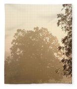 Fog Over Countryside Fleece Blanket