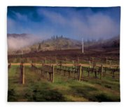 Fog Over Del Rio Fleece Blanket