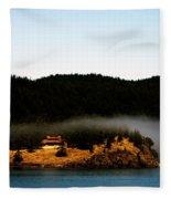Fog Rolling By Fleece Blanket