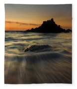 Fogarty Creek Sunset Fleece Blanket