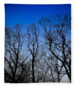 Foggy Blue Morning Fleece Blanket
