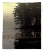 Foggy Bog Sunrise Fleece Blanket