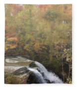Foggy Brandywine Falls Fleece Blanket