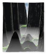 Foggy Canyon Pass Fleece Blanket