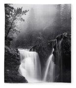 Foggy Falls Fleece Blanket