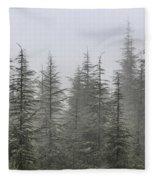 Foggy Forest Retro Series. Fleece Blanket