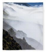 Foggy Hillside Fleece Blanket