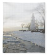 Foggy Marblehead Fleece Blanket