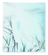Foggy  Marsh Mornng Fleece Blanket