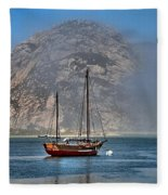 Foggy Morrow Bay Fleece Blanket