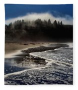 Foggy Pacific Reflections Fleece Blanket