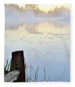 Foggy Pond Fleece Blanket