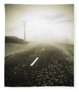 Foggy Road  Fleece Blanket