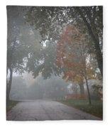 Foggy Street Fleece Blanket