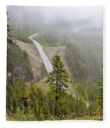 Foggy View From Icefields Parkway Fleece Blanket