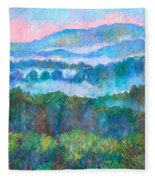 Foggy View From Mill Mountain Fleece Blanket
