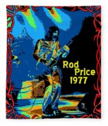 Foghat In Spokane 1977 Fleece Blanket