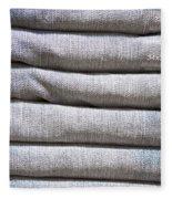 Folded Denim Fleece Blanket