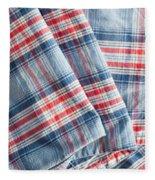 Folded Fabric Fleece Blanket