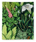 Foliage Fleece Blanket