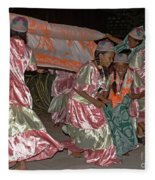 folk dance group from Madagascar 2 Fleece Blanket
