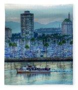 Follow That Boat Fleece Blanket