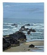 Follow The Ocean Waves Fleece Blanket