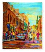 Follow The Yellow Brick Road Fleece Blanket