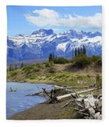 Following The Athabasca River Fleece Blanket