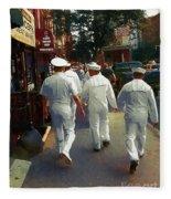 Following The Fleet Fleece Blanket