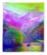 Love Is Following The Flow Together Fleece Blanket