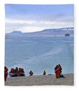 Following The Footsteps Of  Roald Amundsen.. Fleece Blanket