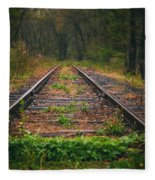 Following The Tracks Fleece Blanket