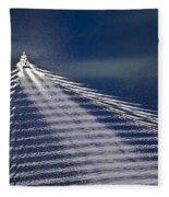 Following The Wake Fleece Blanket