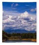 Fontana Lake Storm 2 Fleece Blanket