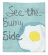Food- Kitchen Art- Eggs- Sunny Side Up Fleece Blanket