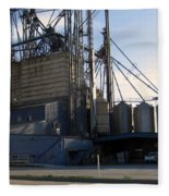 Food Mill Valley View Texas Fleece Blanket