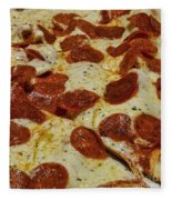 Food - Pepperoni Pizza Fleece Blanket
