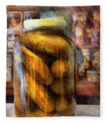 Food - Vegetable - A Jar Of Pickles Fleece Blanket