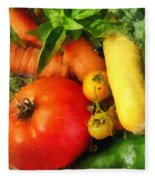 Food - Vegetable Medley Fleece Blanket