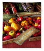 Food - Vegetables - Sweet Peppers For Sale Fleece Blanket