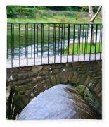 Foot Bridge At Inistioge Fleece Blanket