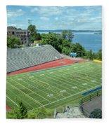 Football Field By The Bay Fleece Blanket