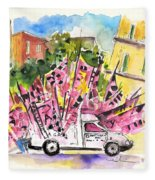 Football Flags From Palermo Fleece Blanket