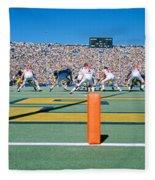 Football Game, University Of Michigan Fleece Blanket