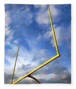 Football Goal Posts Fleece Blanket