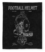Football Helmet Patent 4 Fleece Blanket