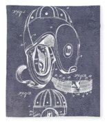 Football Helmet Patent Fleece Blanket
