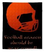 Football Season Should Be Year Round In Orange Fleece Blanket