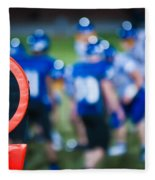 Football Sideline Marker Fleece Blanket